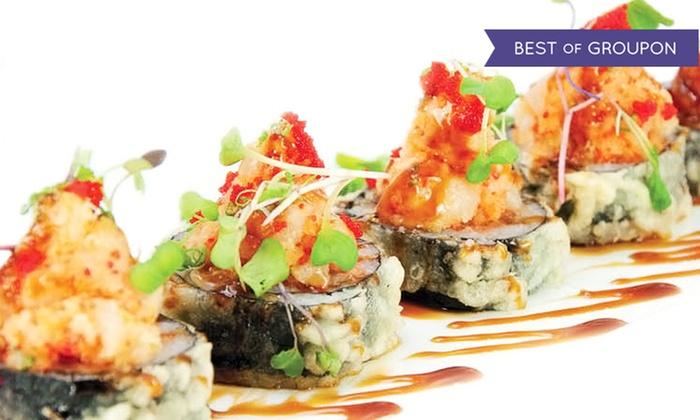 Akira Steak House & Sushi Bar Restaurant - St. James: $25 for $40 Worth of Hibachi Cuisine and Sushi at Akira Steak House & Sushi Bar