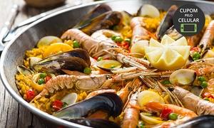 Peixe na Brasa - Santos: Peixe na Brasa - Centro: paella à espanhola + acompanhamentos para 2 ou 4 pessoas