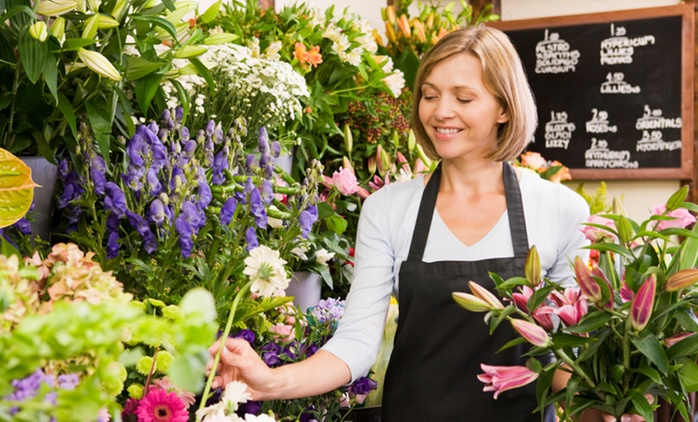 Three-Hour Floristry Lesson For Beginners for £39.99 at School of Floristry
