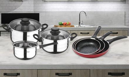 San Ignacio ThreePiece Pan Set, FivePiece Cookware Set or Both