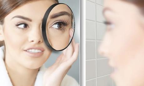 1 o 2 espejos cosméticos con ventosas