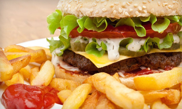 Lot-A-Burger - Multiple Locations: Burgers, Fries, and Drinks for Two or Four at Lot-A-Burger (Half Off)