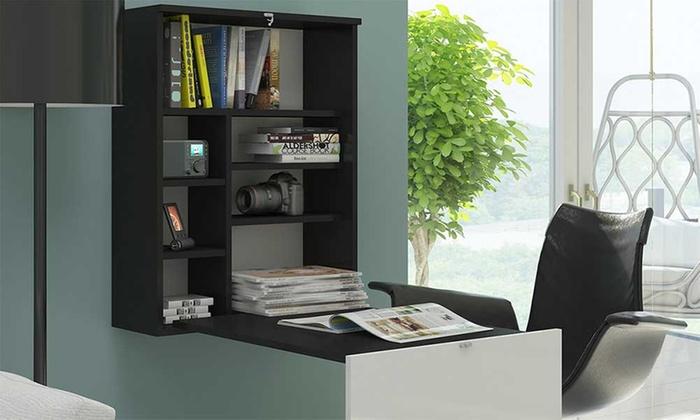 Libreria con scrivania a scomparsa ikea con scrivania per