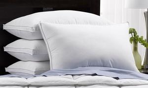 Hotel Essentials Medium-Density Gusseted Pillows (4-Pack)
