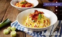 New Bella Italia Menu: Two-Course Meal with Wine or Peroni or Three-Course Meal with Prosecco (Up to 52% Off)