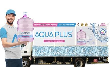 10 or 24 BPA Free Packed AQUAPLUS Alkaline Water Bottles