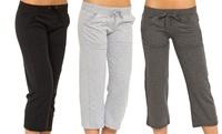 GROUPON: Women's Terry Capri Pants (3-Pack) Women's Terry Capri Pants (3-Pack)