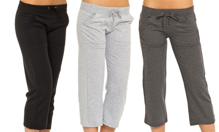 Women's Terry Capri Pants (3-Pack)