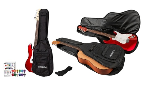 ChromaCast Padded Guitar Gig Bag with Picks and Strap. Multiple Options Available. bd301c98-60b5-11e6-b5d3-002590604002