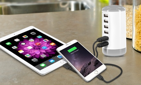 Aduro PowerUp 6 USB Port 30W Smart Charging Tower