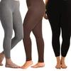 Women's Solid Leggings Plus Size (6-Pack)