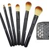 6-Piece Makeup Brush Set with Patent Wristlet