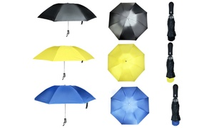 SwissTek Travel Windproof Reverse-Folding Fully Automatic Umbrella