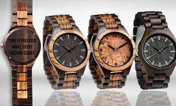 Personalised Engraved Wood Watch