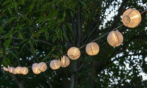 Guirlande solaire 10 lampions