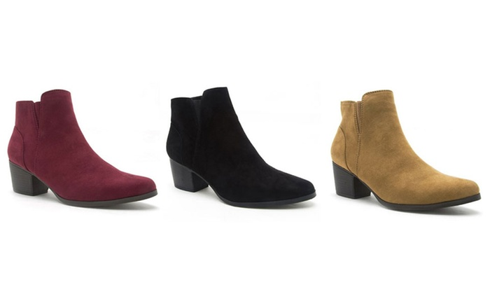 Mata Women's Low-Heel Ankle Booties