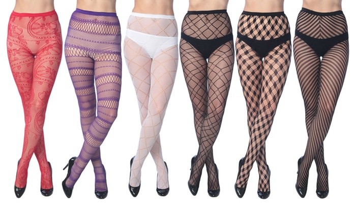 f0355e69cf2 Frenchic Assorted Fishnet Tights in Regular and Plus Sizes (6-Pack ...