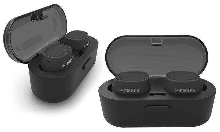 b2b73101ecc Fisher FTW100 Freedom Sound Wireless Earphones with Charging Case
