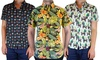 Straight Faded Men's Short Sleeve Printed Shirts: Straight Faded Men's Short Sleeve Printed Shirts