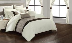 Athena Comforter Set with Matching Window Treatments (24-Piece)