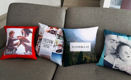 Personalized Single- or Couple-Photo Pillows (1- or 2-Pack)
