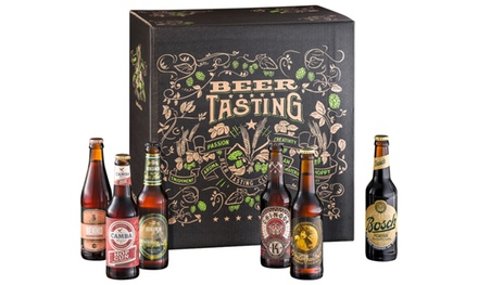 Gift Pack with 24 International Beers Including Free Glass With Free Delivery