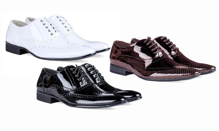 Signature Men's Wingtip Design Tuxedo Shoes