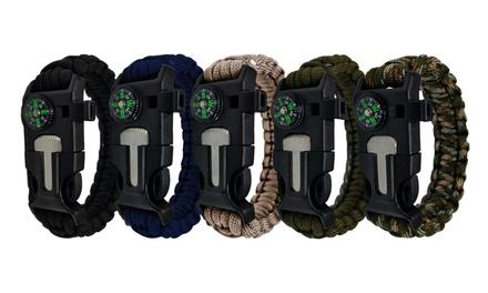 Fino a 8 bracciali di sopravvivenza resistenti alla corrosione disponibili in 4 colori