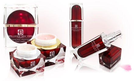 Brilliance New York Ruby Thermal Heating Mask, Facial Serum, and Face Cream Bundle