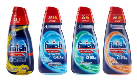 7 pack di Finish Power Gel da 650 ml disponibili in 4 tipologie