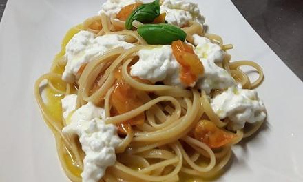 Menu italiano o vegetariano e vino