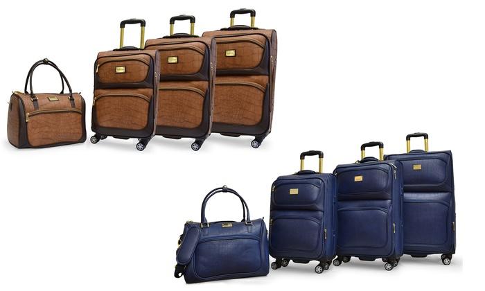 8ccd88d334 Adrienne Vittadini Rolling Luggage Set (4-Piece) ...