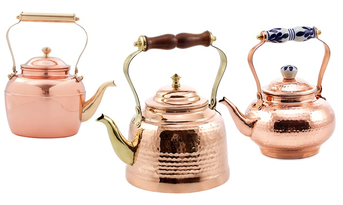 Solid Copper Tea Kettles