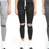 RAG Women's Split-Knee Leggings in Regular and Plus Sizes