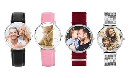 Reloj de pulsera personalizado con foto para mujer u hombre con Justyling (con 87% de descuento)