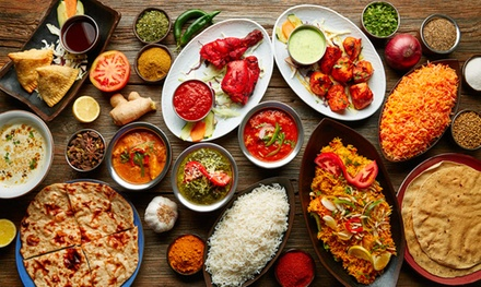 TwoCourse Indian Meal with Rice or Naan for Two or Four at The Curry Garden