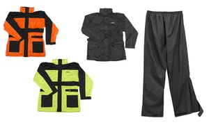 Vega Hi-Visibility Waterproof Motorcycle Rain Jackets and Pants