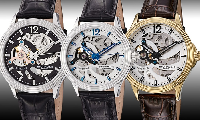 Stührling Original Skeleton Watches: Stührling Original Men's Skeletonized Watches. Multiple Styles Available. Free Shipping and Returns.