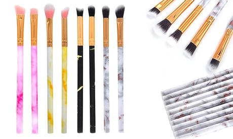 Ten-Piece Marble Make-Up Brush Set