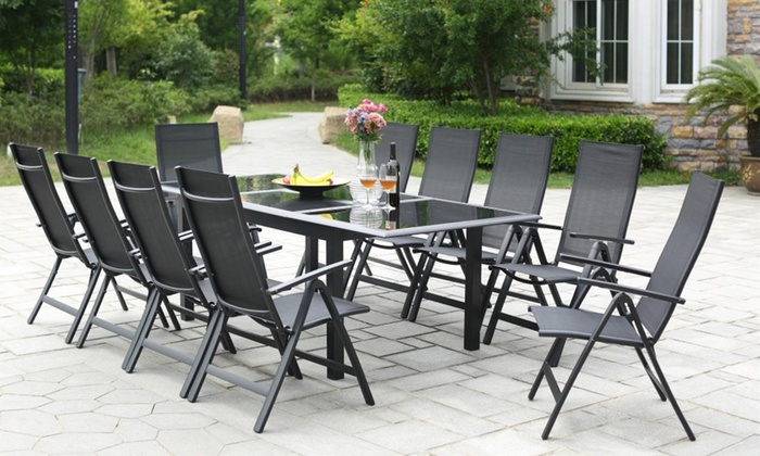 Salon jardin Alu/verre Ravenne | Groupon Shopping