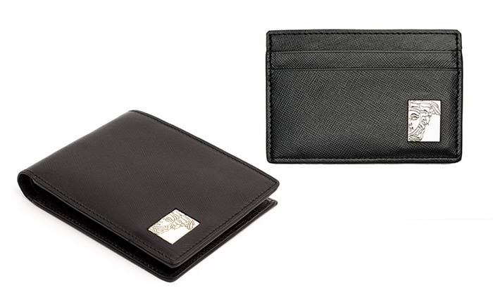 ff002beed8 Versace Collection Men s Billfold or Card-Case Leather Wallet