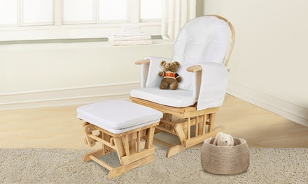for a Breast Feeding Glider Chair with Ottoman