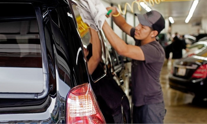 Super Car Wash - Multiple Locations: Express or Bumper-to-Bumper Detail with Voucher for a Platinum Car Wash (Up to 42% Off)