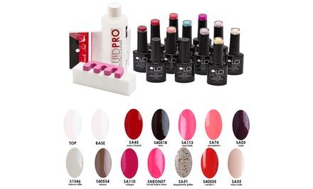 Kit con lampada UV e fino a 18 smalti semipermanenti LCI Cosmetics disponibili in vari colori