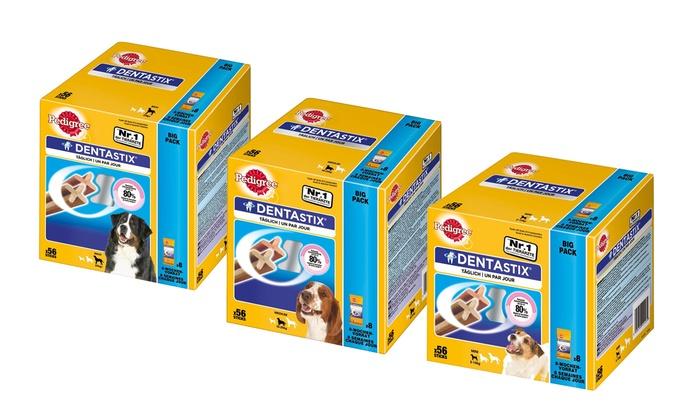Groupon Goods Global GmbH: Tratamiento dental para perros Pedigree DentaStix de 56 piezas para perros pequeños, medianos o grandes
