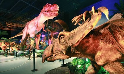 "image for ""Titanic: The Artifact Exhibition"" or ""Extreme Dinosaurs: The Exhibition"" through December 31 (Up to 35% Off)"