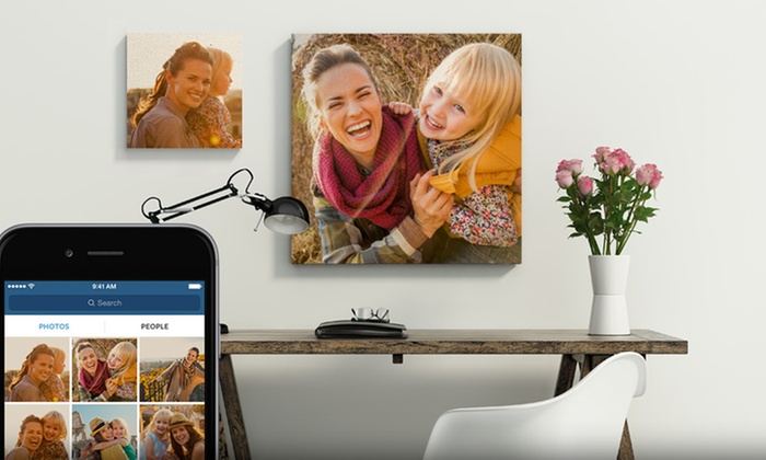 Custom Instagram Canvas Prints from CanvasOnSale (Up to 82% Off). Five Options Available.
