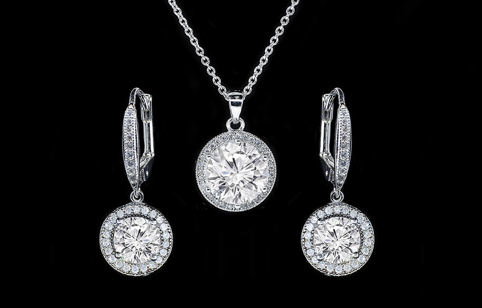Pendant and Earrings Set with Swarovski Elements (2-Piece)