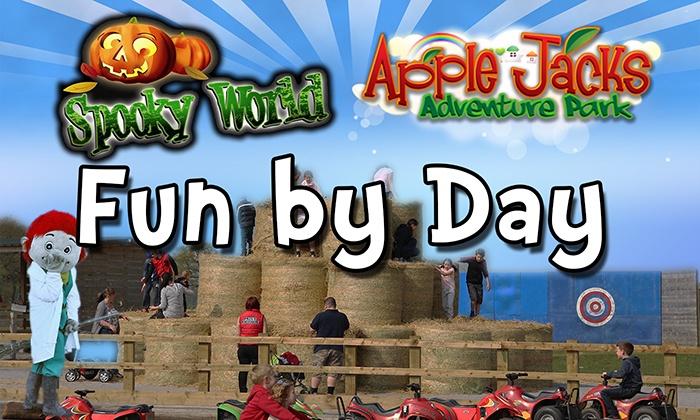 Farmland Cheshire LTD - Appleton: Family Day Ticket to Fun by Day, Spooky World at Apple Jack Farm (41% Off)