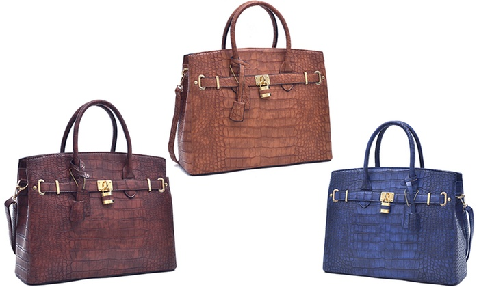 a98274288d3e16 MK Collection By Dasein Belted Rocket Structured Handbag   Groupon